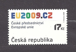 Czech Republic 2008 MNH ** Mi 583 Sc 3399 Czech Republic Chairmanship In The EU Council. Tschechische Republik. - Czech Republic