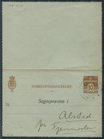 1937 Denmark 10ore Lettercard Stationery H&G A41 Sognepraesten Anmeldelse. Birth Registration - Covers & Documents