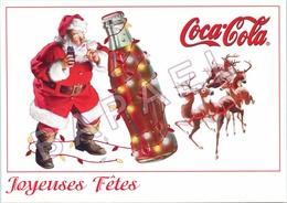 Publicité Sur Carte Postale - Coca Cola - Joyeuses Fêtes (1) - Publicité
