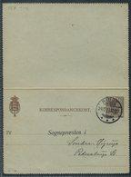 1923 Denmark 20ore Lettercard Stationery H&G A35. Sognepraesten Anmeldelse. Birth Registration, Ringe - Covers & Documents