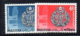APR1779 - PAKISTAN 1962 , Serie Yvert N. 157/158  ***  MNH  (2380A) Polizia - Pakistan