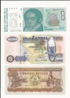 3 Banknotes - All UNC - Munten & Bankbiljetten