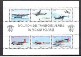 TAAF - 2012 - BF Evolution Des Transports Aériens En Régions Polaires ** - Blocks & Sheetlets