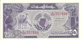SOUDAN 25 PIASTRES 1985 UNC P 37 - Sudan