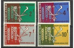 Rwanda - 1963 Freedom From Hunger Set Of 4 MH *    SG 23-6  Sc 23-6 - Rwanda
