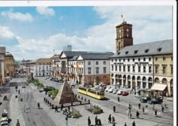 AQ39 Karlsruhe, Marktplatz Mit Rathaus - Vintage Cars, Tram - Karlsruhe