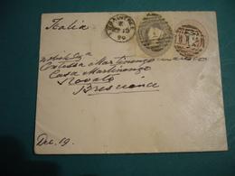 1890  FRANCOBOLLI REGINA VITTORIA TWO PENCE  E ONE PENCE  IN RILIEVO SU BUSTA SPEDITA - 1840-1901 (Regina Victoria)