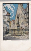 AQ39 Herterichsbrunnen In Rothenburg - Artist Signed - Rothenburg O. D. Tauber