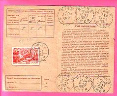 500 F MARSEILLE PA 27 SUR CARTE ABONNEMENT AUX TIMBRES OBLI 1951 RIANS CHER Cachet Bureaux De Distribution Au Type B6 - Postmark Collection (Covers)
