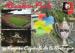 Stade De Football -Stade Roazhon Park-RENNES - Carte Géo- Coupe De France 2019- Capitale De La Bretagne - Cpm - Vierge - - Football