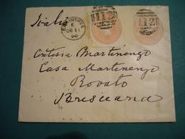 1890  FRANCOBOLLI REGINA VITTORIA  ONE PENNY    IN RILIEVO SU BUSTA SPEDITA - 1840-1901 (Regina Victoria)