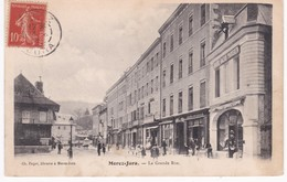 39  Jura -  MOREZ -  La Grande Rue - Grand Bazar Parisien - 1908 - Morez