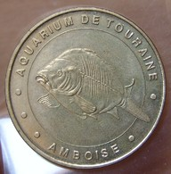 Médaille - Jetons Touristiques De La Monnaie De Paris Amboise, Aquarium De Touraine  N°1 La Carpe 2000 - Arthus Bertrand