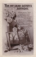 AL64 Greetings - Sister's Birthday - Flowers, Church - Birthday