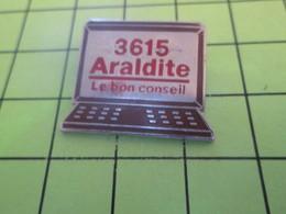 1215 Pin's Pins / Beau Et Rare : THEME : INFORMATIQUE / MINITEL 3615 ARALDITE COLLE FORTE - Computers