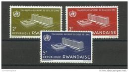 Rwanda - 1966 WHO Building Set Of 3 MNH **  SG 159-61  Sc 161-3 - Rwanda