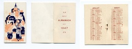Calendrier 1947 - Paysage Du Midi (?) Porteuse D'eau (pas De Publicité) - Calendriers