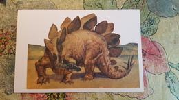 Stegosaurus   - Dinosaur Serie - Old USSR Postcard 1969 - Altri