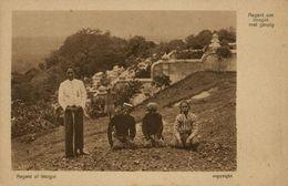 Indonesia, JAVA YOGYAKARTA DJOKJA, Regent Of Imogiri And Servants 1920s Postcard - Indonesië