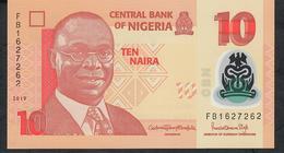 NIGERIA P39o 10 NAIRA 2019  #FB Signature 22 UNC. - Nigeria