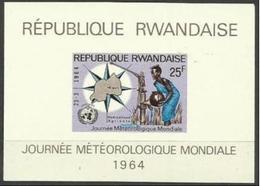 Rwanda - 1964  World Meteorological Day S/sheet MH *  Sc 54a - Rwanda
