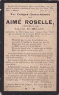 Werken, Wercken, 1912, Aimé Roselle, Dumoulin, Detroit Mich. U.S.A. - Devotieprenten