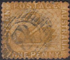 Western Australia 1865-79 Used Sc 30 1p Swan Cancel: 12-bar Numeral 8 (Nannup) - 1854-1912 Western Australia