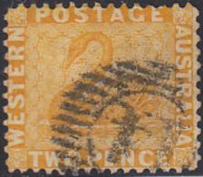Western Australia 1865-79 Used Sc 31 2p Swan Cancel: 12-bar Numeral 14 (Marradong) - 1854-1912 Western Australia
