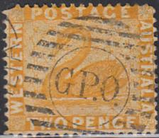 Western Australia 1872-78 Used Sc 37 2p Swan - 1854-1912 Western Australia