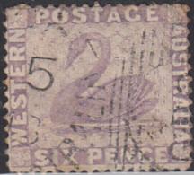 Western Australia 1872-78 Used Sc 39 6p Swan - 1854-1912 Western Australia