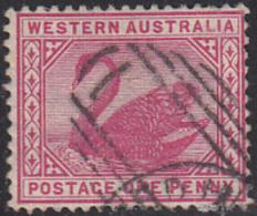 Western Australia 1890-93 Used Sc 62 1p Swan - Oblitérés