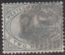 Western Australia 1890-93 Used Sc 63 2p Swan - 1854-1912 Western Australia