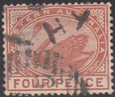 Western Australia 1890-93 Used Sc 65 4p Swan - 1854-1912 Western Australia