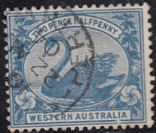 Western Australia 1899-1901 Used Sc 75 2 1/2p Swan - 1854-1912 Western Australia