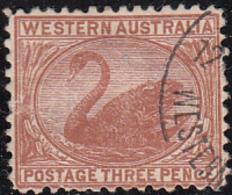 Western Australia 1905-1912 Used Sc 92 3p Swan - 1854-1912 Western Australia