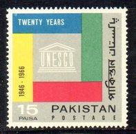 APR1783 - PAKISTAN 1966 , Serie Yvert N. 224  ***  MNH  (2380A) Unesco - Pakistan