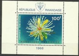 Rwanda - 1966 Flowers Souvenir Sheet MLH *  Sc 160a - Rwanda