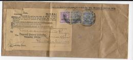 INDIA - 1933 - ENVELOPPE De SERVICE Avec TIMBRES SURCHARGES + ETIQUETTE ECONOMY LABEL Pour REUTILISATION => PONDICHERRY - Inde (...-1947)