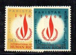 APR1786 - PAKISTAN 1968 , Serie Yvert N. 246/247  ***  MNH  (2380A) Human - Pakistan
