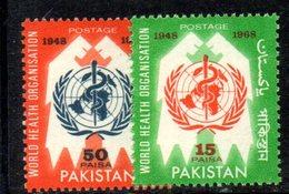 APR1787 - PAKISTAN 1968 , Serie Yvert N. 249/250  ***  MNH  (2380A) Oms - Pakistan
