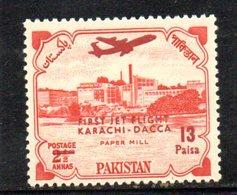 APR1788 - PAKISTAN 1962 , Posta Aerea Serie Yvert N. 1  ***  MNH  (2380A) Jet Flight - Pakistan