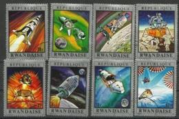 Rwanda - 1970 Apollo Spaceships CTO  SG 383-90  Sc 373-80 - Rwanda