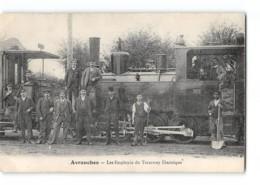 CPA 50 Avranches Les Employés Du Tramway électrique - Avranches