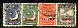 APR1790 - PAKISTAN 1955 , Servizio Serie Yvert N. 27/31 Usata: Priva Del Solo N. 30  (2380A) - Pakistan