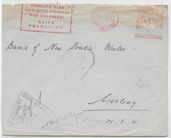 PALESTINE - 1942 - ENVELOPPE CENSUREE Avec EMA De HAIFA => NEW SOUTH WALES => GEELONG (VICTORIA - AUSTRALIE) - Palestine
