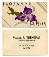 Carte Parfumée / L.T. PIVER : FLORAMYE / Maison TREMEAU à DIJON - Cartes Parfumées