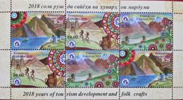 Tajikistan  2018  Years Of Tourism Development And Folk Crafts  Mountains  M/S  MNH - Tadschikistan