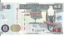 ZAMBIE 2 KWACHA 2015 UNC P 56 - Zambie