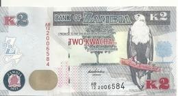 ZAMBIE 2 KWACHA 2012 UNC P 49 - Zambie