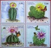 Tajikistan  2018  Cacti ( Butterflies,  Bees)  4 V  MNH - Butterflies